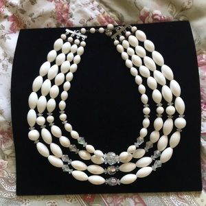 Jewelry - Vintage Bead and Crystal Necklace